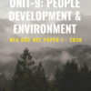 People development & environment notes and ebook NTA UGC NET Paper 1