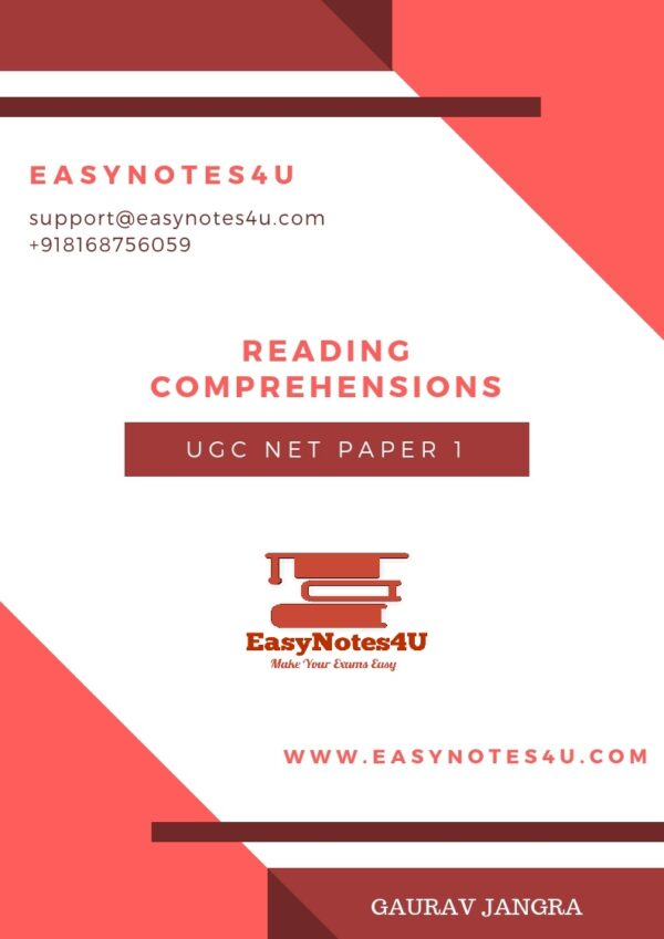 Reading Comprehensions for NTA UGC NET Paper 1 Notes eBook